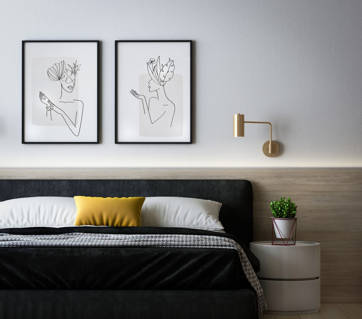 how to balance a bedroom with only one night stand