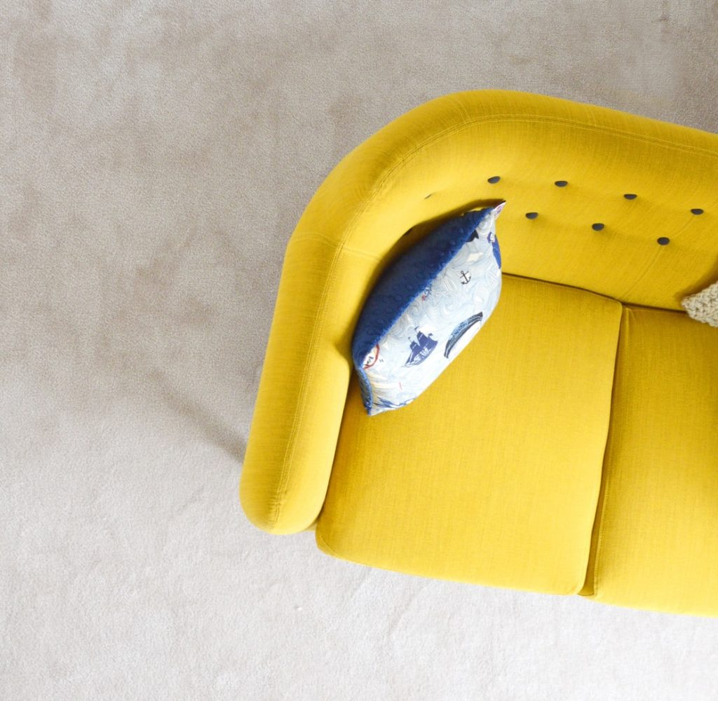 what to put behind a floating sofa
