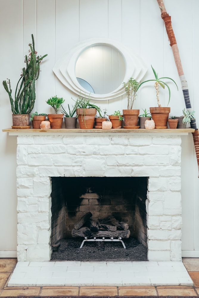 how to cover a brick fireplace with shiplap