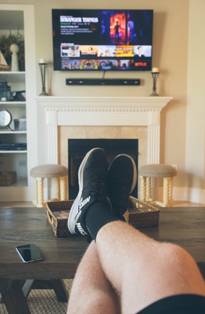 where do you put your electronics when the tv is above a fireplace
