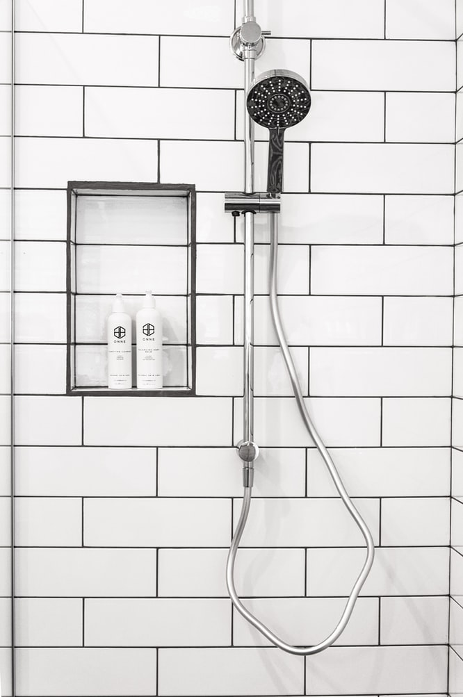 smoking in bathroom with shower running