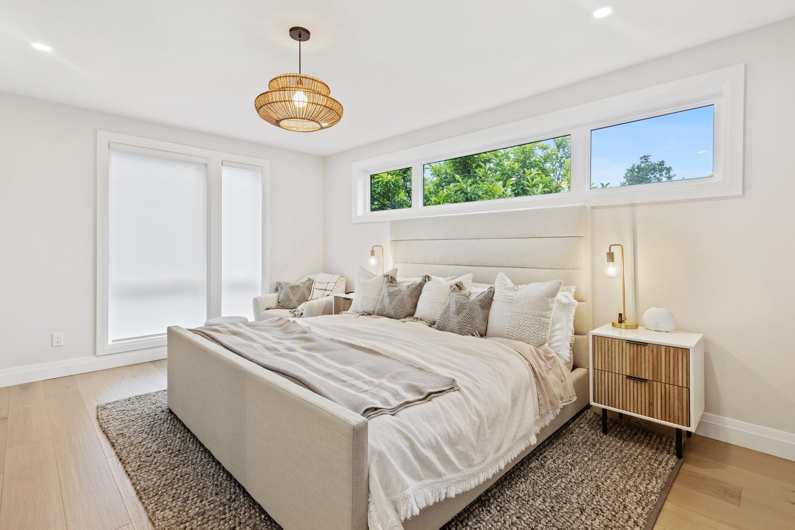 bedroom above garage